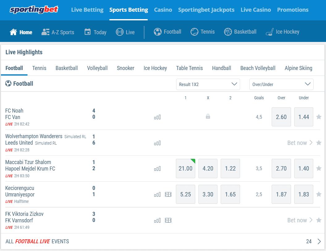 Sportingbet.com Зеркало